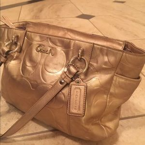 Coach Authentic Metallic Gold Purse